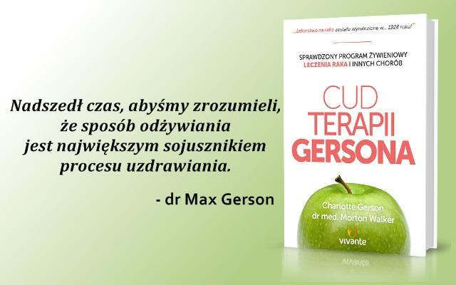Dieta Gersona sposobem na uzdrowienie